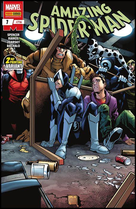 UOMO RAGNO #   716 - AMAZING SPIDER-MAN 7 - 1A RISTAMPA - VARIANT COVER