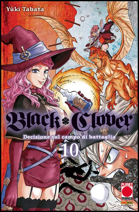PURPLE #    23 - BLACK CLOVER 10 - 1A RISTAMPA