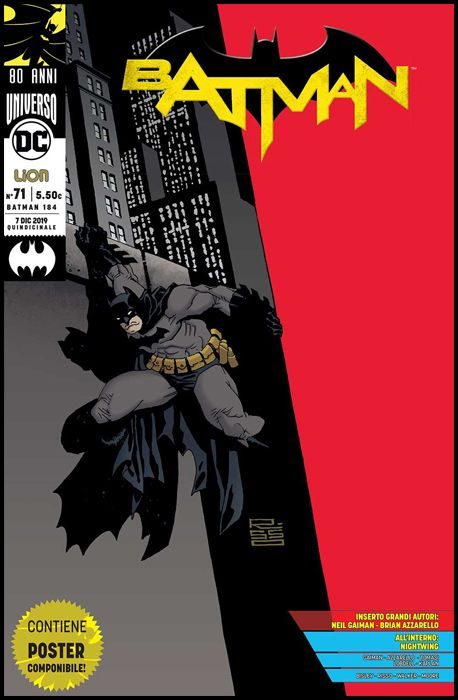 BATMAN #   184 - BATMAN 71 - BATMAN 80 ANNI: GRANDI AUTORI + POSTER