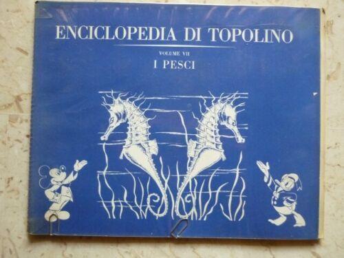 ENCICLOPEDIA DI TOPOLINO VOL VII: I PESCI  ALBUM FIGURINE INCOMPLETO