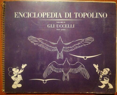 ENCICLOPEDIA DI TOPOLINO VOL IV: GLI UCCELLI PARTE 1A ALBUM FIGURINE COMPLETO