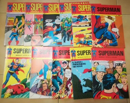 SUPERMAN 1/11 COMPLETA  DA EDICOLA TRANNE N 7 DISCRETO