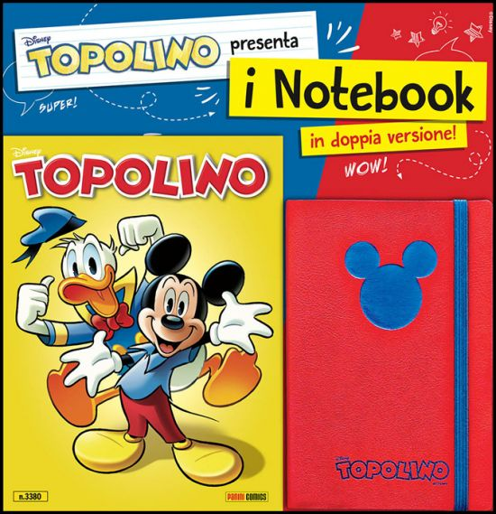 TOPOLINO LIBRETTO #  3380 + NOTEBOOK ROSSO