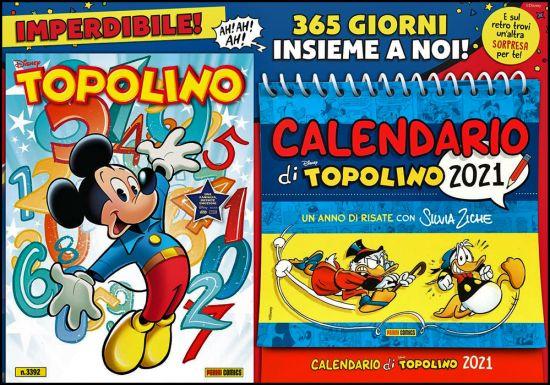 TOPOLINO LIBRETTO #  3392 + CALENDARIO DI TOPOLINO 2021