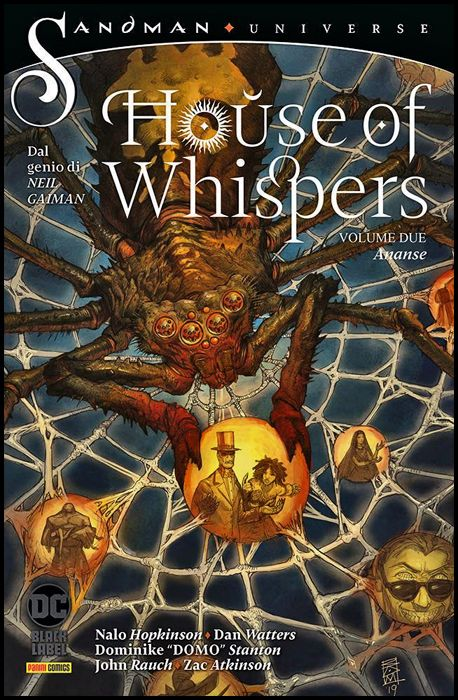 SANDMAN UNIVERSE COLLECTION BLACK LABEL - HOUSE OF WHISPERS #     2: ANANSE