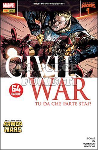 IRON MAN 33/36 - CIVIL WAR 1/4 - SECRET WARS1/4 MINISERIE COMPLETA