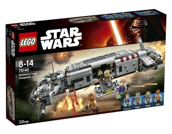 LEGO STAR WARS 75140 - RESISTENCE TROOP TRANSPORTER - 8/14 ANNI  1A BUSTA APERTA MA COMPLETA