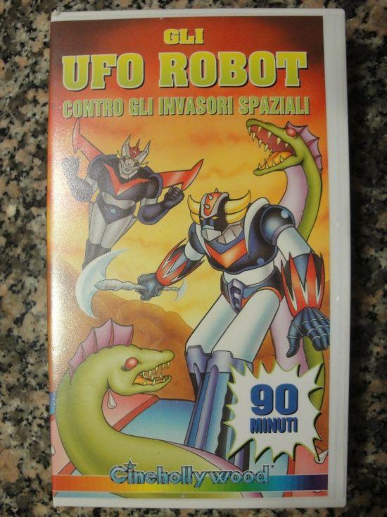 GLI UFO ROBOT CONTRO GLI INVASORI SPAZIALI VHS  90 MIN
