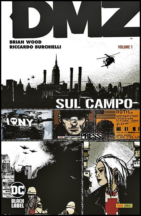 DC VERTIGO COMPLETE COLLECTION BLACK LABEL - DMZ #     1: SUL POSTO