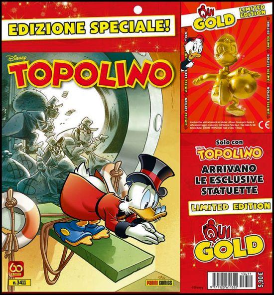 TOPOLINO LIBRETTO #  3411 - LIMITED EDITION + STATUETTA QUI GOLD