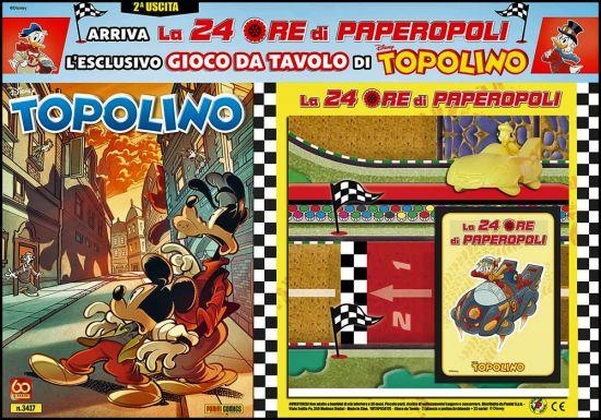 TOPOLINO LIBRETTO #  3417 + GIOCO DA TAVOLO DI TOPOLINO - LA 24 ORE DI PAPEROPOLI - 2A USCITA (DI 5)
