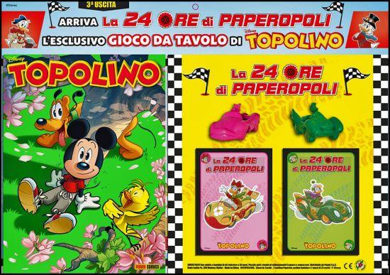 TOPOLINO LIBRETTO #  3418 + GIOCO DA TAVOLO DI TOPOLINO - LA 24 ORE DI PAPEROPOLI - 3A USCITA (DI 5)