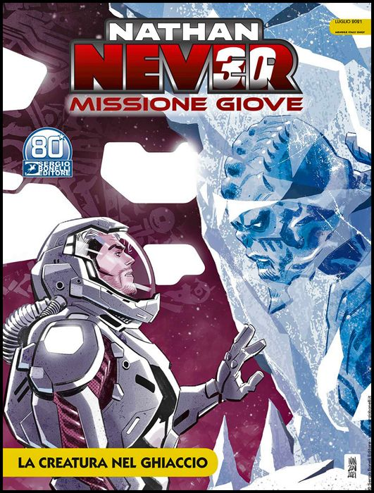 NATHAN NEVER GIGANTE #    42 - NATHAN NEVER - MISSIONE GIOVE 2: LA CREATURA NEL GHIACCIO