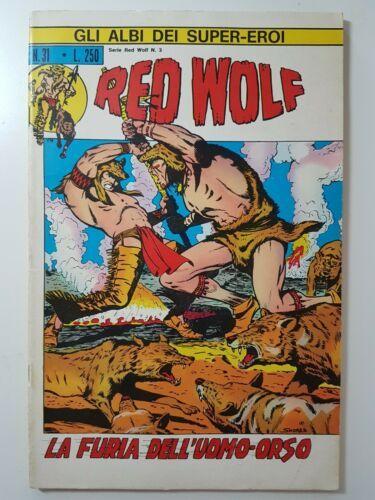 GLI ALBI DEI SUPER-EROI #    31 - RED WOLF 3: LA FURIA DELL'UOMO ORSO