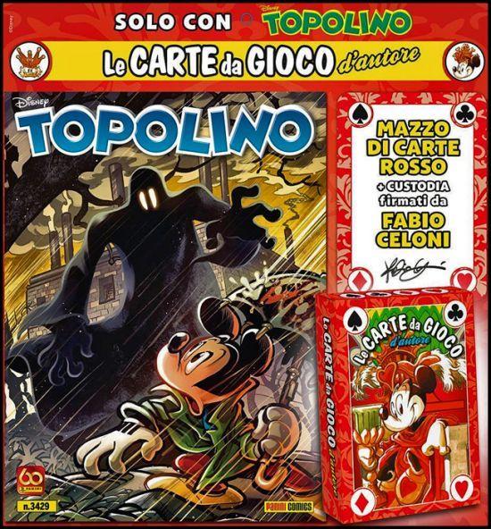 TOPOLINO LIBRETTO 3429/3430 + CARTE D'AUTORE DI FABIO CELONI - MAZZO NERO+ROSSO