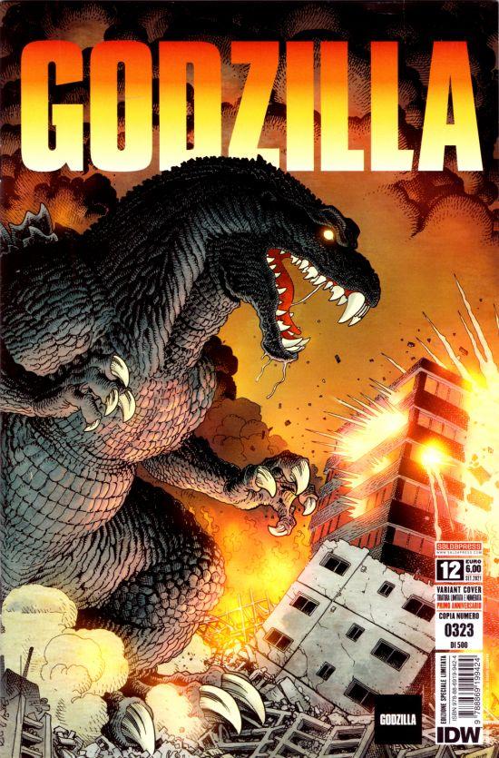GODZILLA #    12 - VARIANT GATEFOLD COVER - TIRATURA LIMITATA E NUMERATA - 500 COPIE