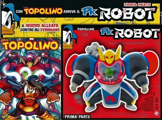 TOPOLINO LIBRETTO #  3437/3438 + PK ROBOT PARTE PRIMA E SECONDA COMPLETA