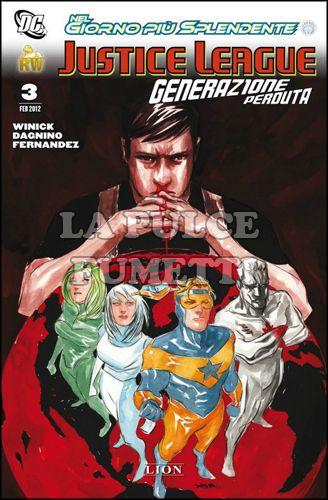 DC MINISERIE #     2 - JUSTICE LEAGUE - GENERAZIONE PERDUTA 3 - NEL GIORNO PIÙ SPLENDENTE
