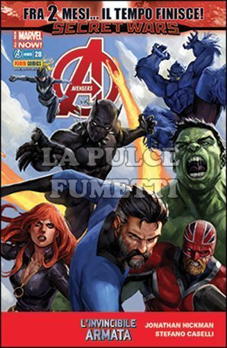 I VENDICATORI #    43 - AVENGERS 28 - FRA 2 MESI... IL TEMPO FINISCE! - SECRET WARS - ALL-NEW MARVEL NOW!