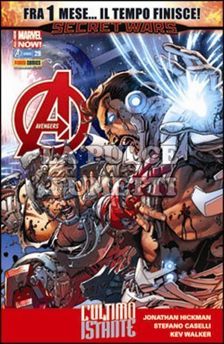 I VENDICATORI #    44 - AVENGERS 29 - FRA 1 MESE... IL TEMPO FINISCE! - SECRET WARS - ALL-NEW MARVEL NOW!