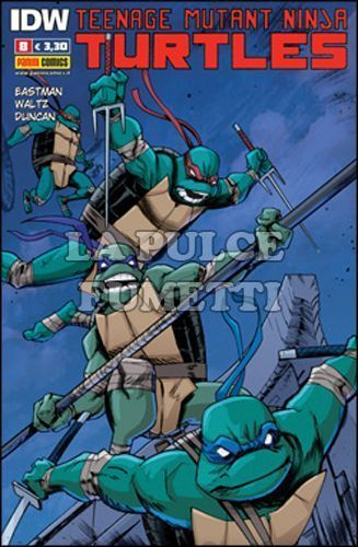 PANINI NINJA #     8 - TEENAGE MUTANT NINJA TURTLES 8