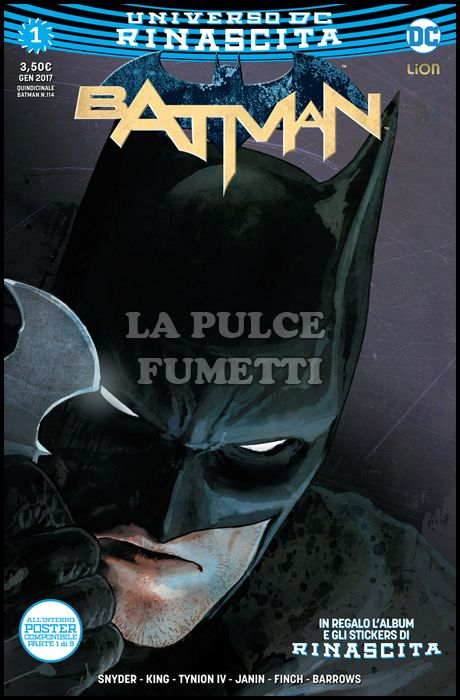 BATMAN #   114 - BATMAN 1 - RINASCITA + ALBUM + STICKERS + POSTER ( 1 DI 9 )